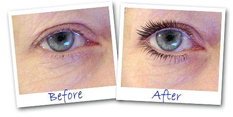 Eye Lash Accelerator bofore and after